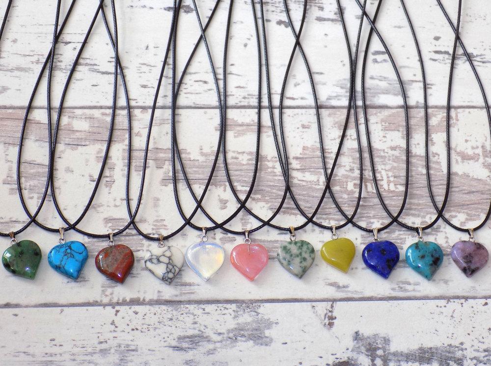 Quartz Necklace Heart Shape