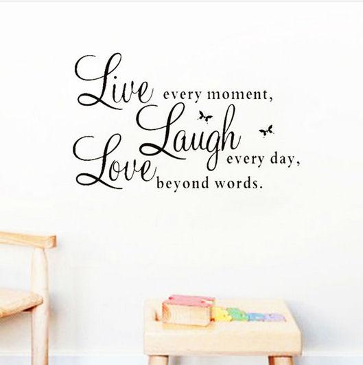 Live, Laugh, Love Wall Art Sticker