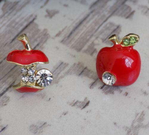 Thank You Teacher Red Apple Earrings