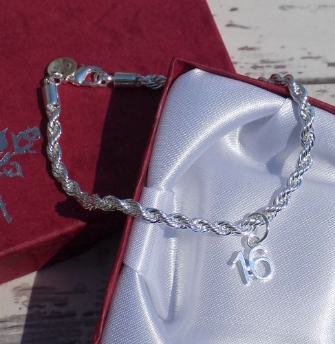 Personalised 16th Silver Bracelet