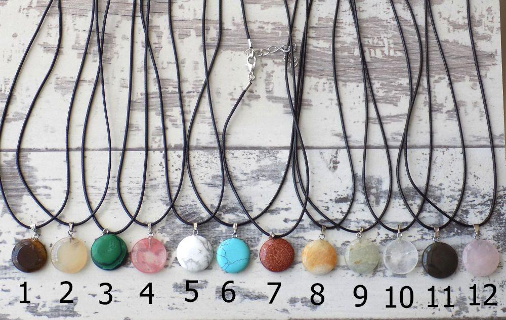 Quartz necklace round crystal quartz shapes