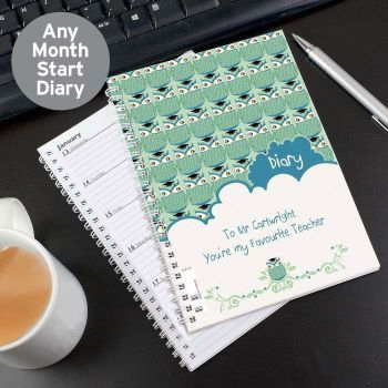 Thank You Teacher Diary - Personalised