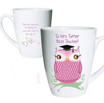Personalised Latte Mug Teacher Gift
