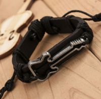 Guitar Leather Bracelet
