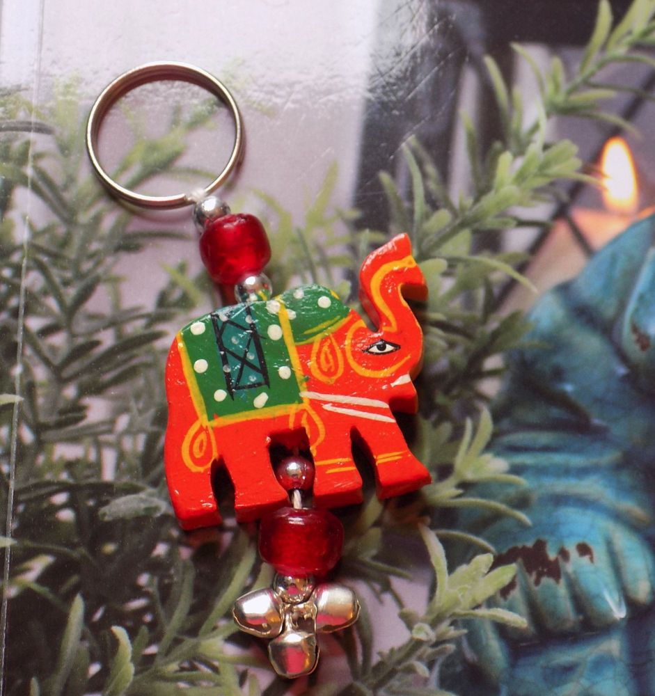 Elephant Keyring - Handcrafted in India