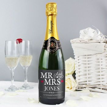 Personalised Champagne (Mr and Mrs)