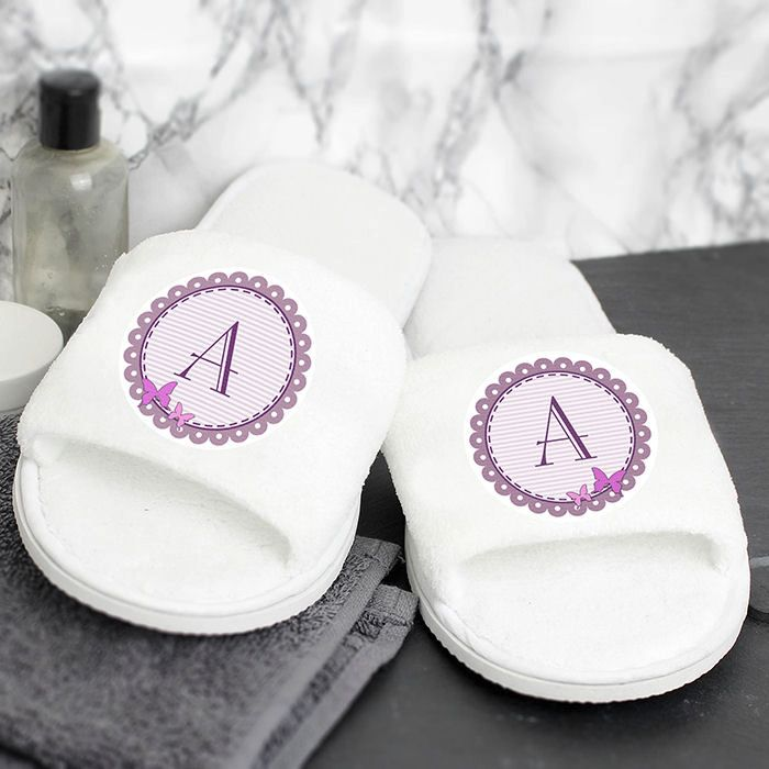 Personalised Initial Slippers (Butterfly)