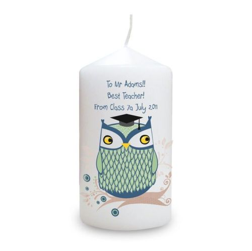 Personalised Owl Candle Teacher Gift