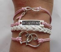 Infinity Breast Cancer Friendship Bracelet