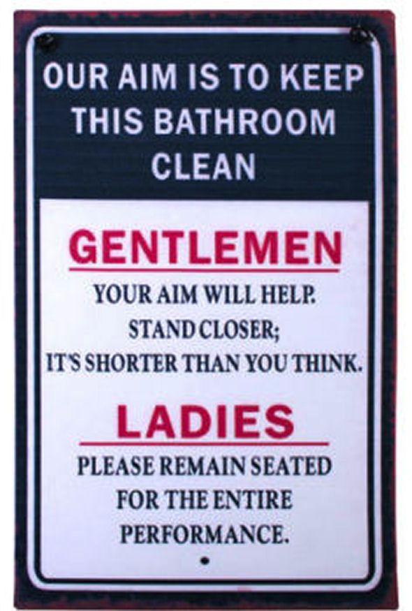 Bathroom Metal Wall plaque