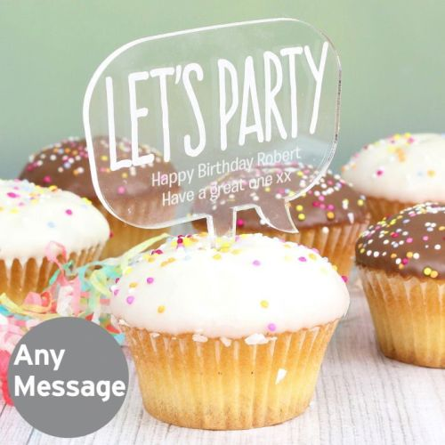 Personalised Cake Topper - Lets Party