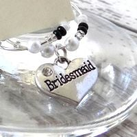 Bridesmaid Wine Glass Charm