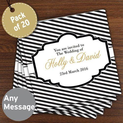 Personalised Wedding Invitations - Stripe