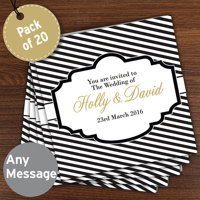 Personalised Wedding Invitations - Stripe