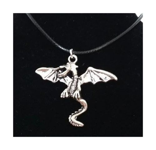 Dragon Pendant Corded Necklace