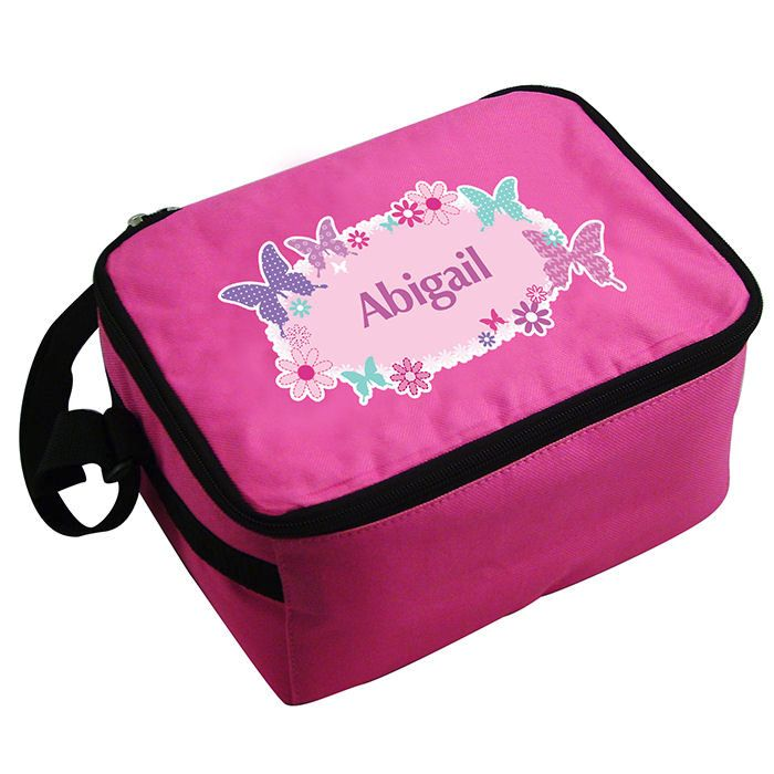 Personalised Boys Lunch Bag - Butterfly