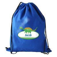 Personalised Back to School Dinosaur Swim Bag