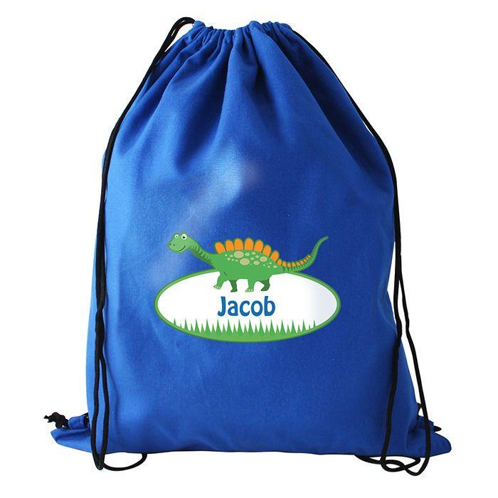 Personalised Back to School Dinosaur Swim Bag