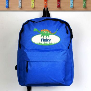 Personalised Boys Backpack - Dinosaur
