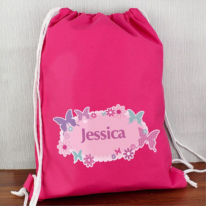 Personalised Back to School Butterfly Swim Bag