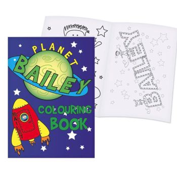 Personalised Colouring Book - Space