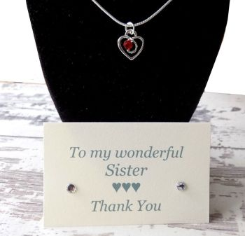 Sister of the Bride Gift Pendant Necklace