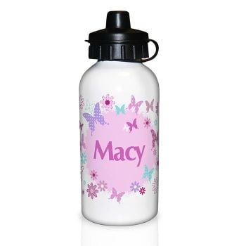 Personalised Girls Drinks Bottle - Butterfly