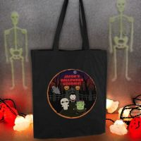 Personalised Halloween Black Cotton Bag