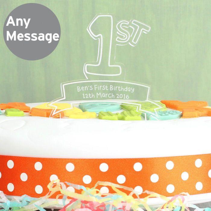 Personalised '1st' Celebration Cake Topper