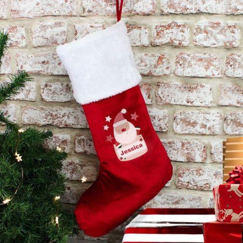 Personalised Christmas Stocking (Pocket Santa)