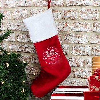 Personalised Christmas Stocking (Christmas Wishes)