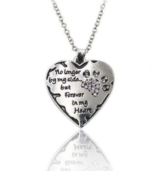 Dog or Cat Pet Memorial Necklace (Crystal)