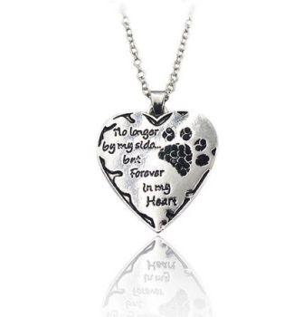 Dog or Cat Pet Memorial Necklace (Black)
