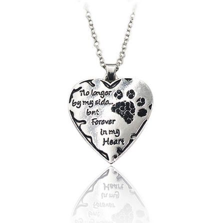 Dog or Cat Pet Memorial Necklace (Black)