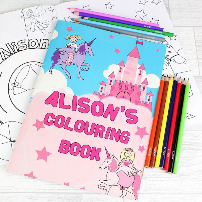 Princess Colouring Book with Pencils