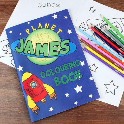 Space Colouring Book with Pencils