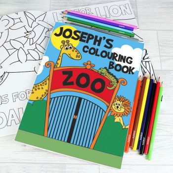 Zoo Colouring Book with Pencils