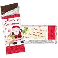 Personalised Santa Milk Chocolate Bar