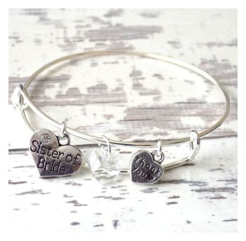 Sister of Bride Charm Bracelet