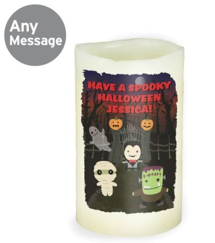 Personalised halloween candle any message