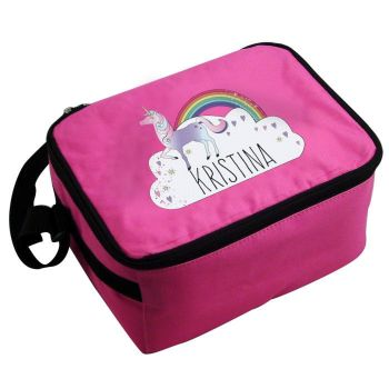 Personalised Girls Lunch Bag - Unicorn