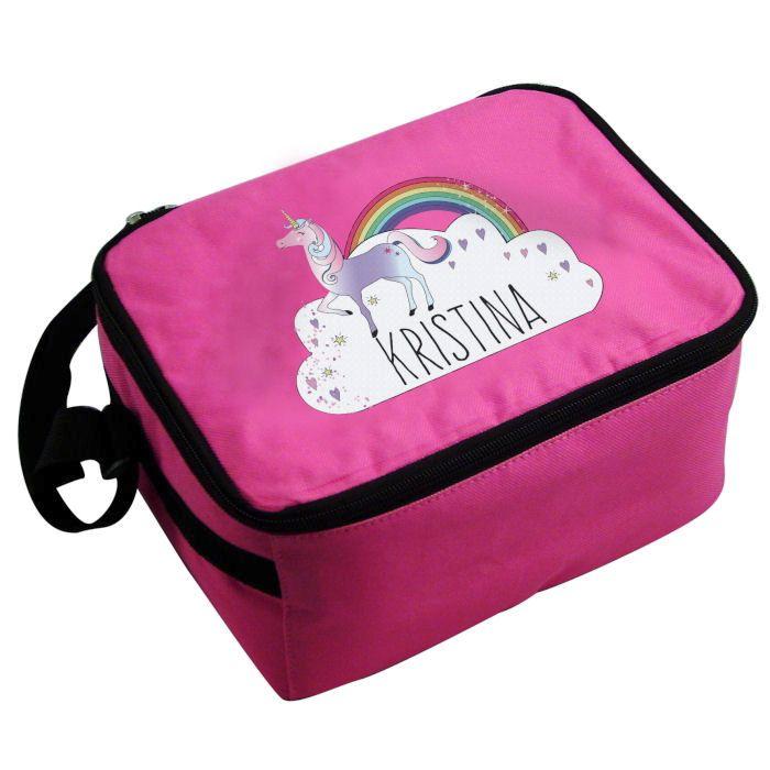 Personalised Girls Lunch Bag Unicorn