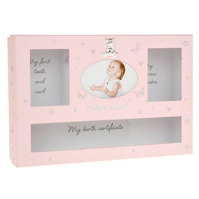 Baby Girl Keepsake Box in Pink