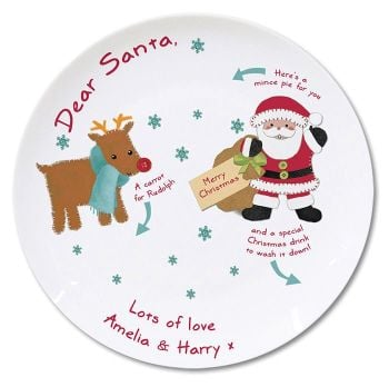 Personalised Mince Pie Plate (Felt Stitch)
