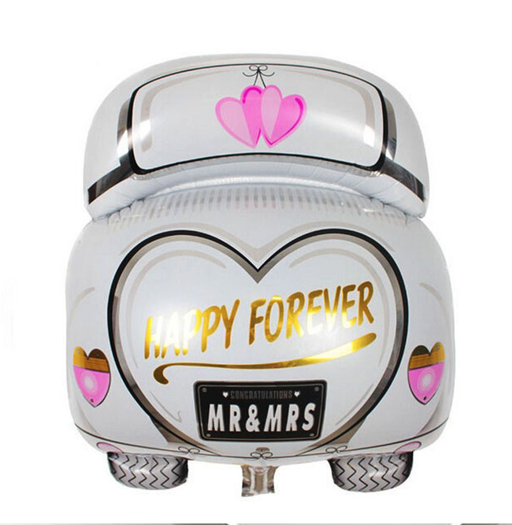 Wedding Car Just Married Foil Balloon
