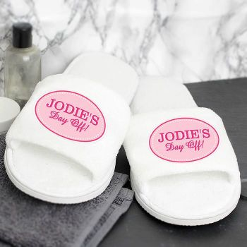 Personalised Women's Slippers (Pink Oval)