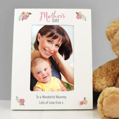 Personalised Floral Bouquet Mother's Day 6x4 Photo Frame