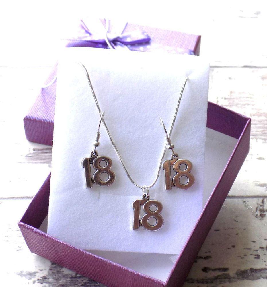 18th Birthday Silver Jewellery Gift Set
