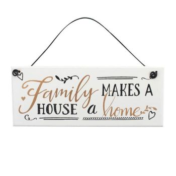 Family Makes (Home) Hanging Plaque, Ethically Sourced