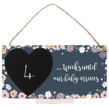 Baby Countdown Hanging Plaque